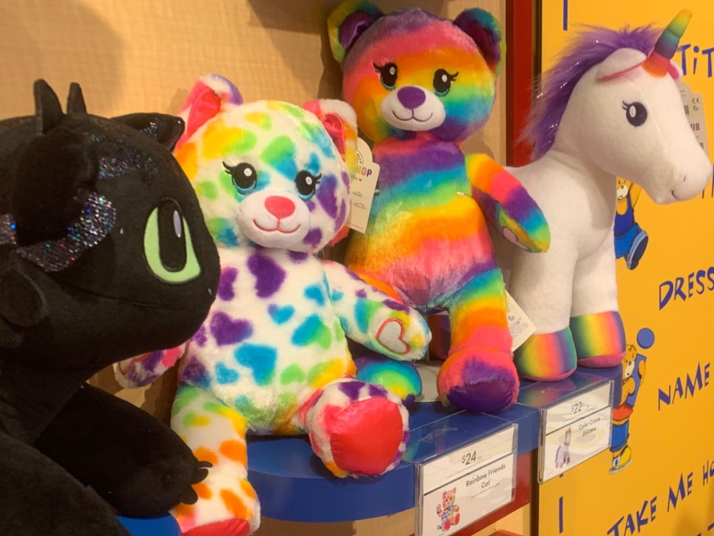 Rainbow Furry Cat at Build a Bear