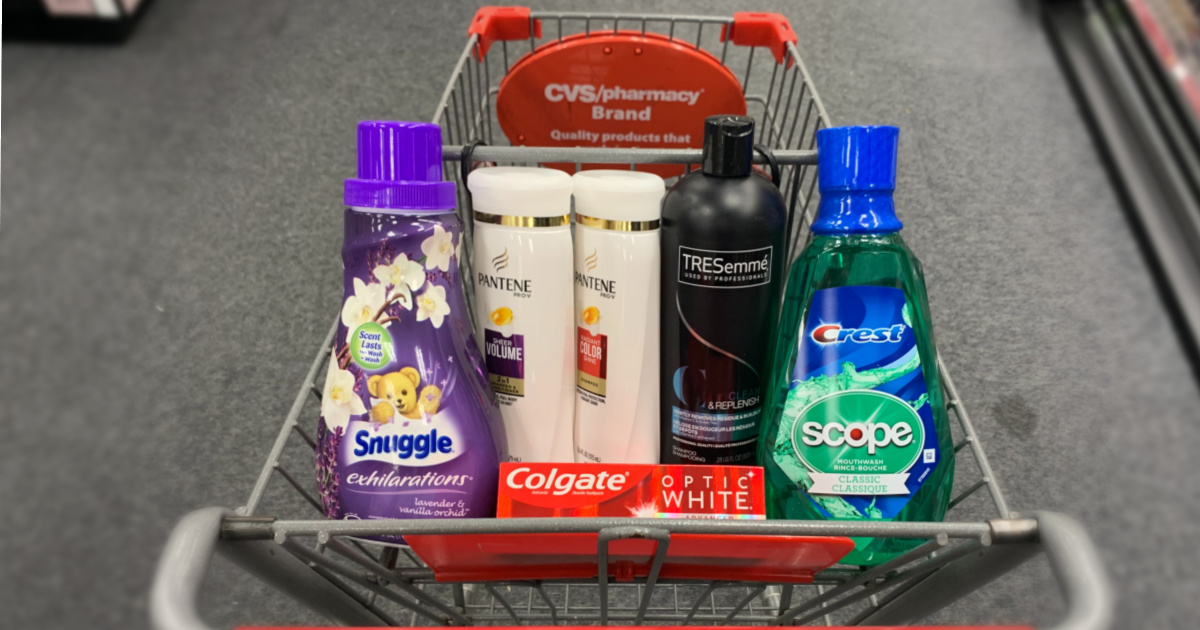 Products in cart at CVS