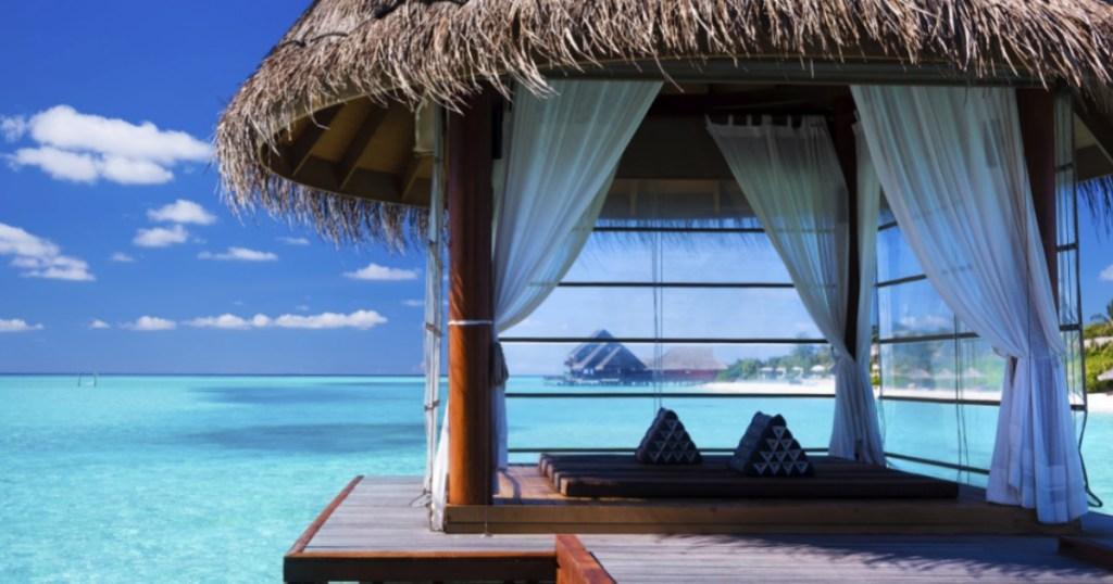 Cabana On exotic beach