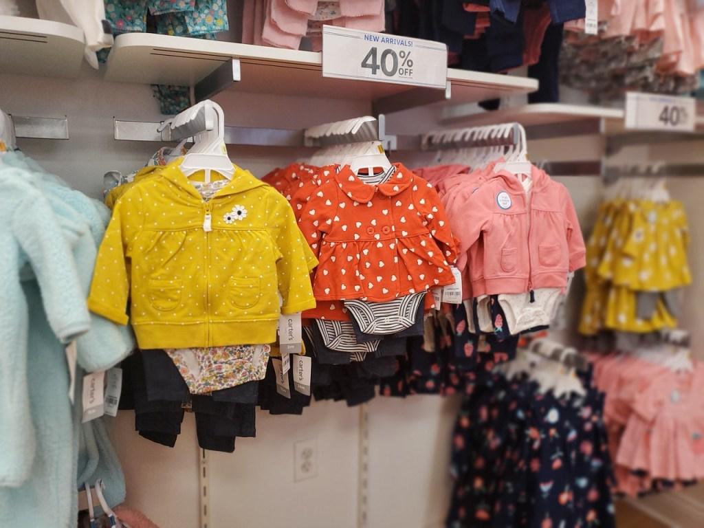 Carter Hooded Jacket Sets for Girls