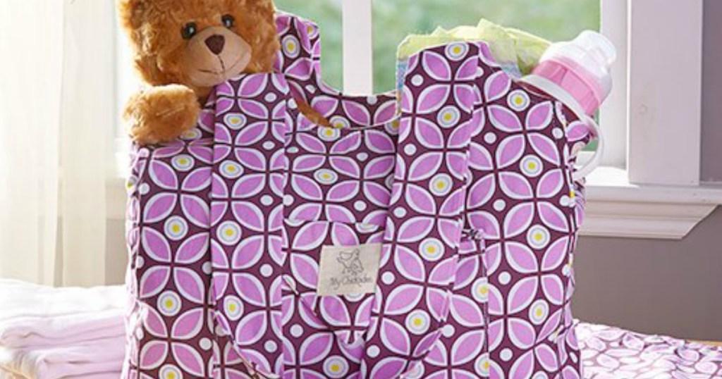 Chickadee Diaper Bag with bear