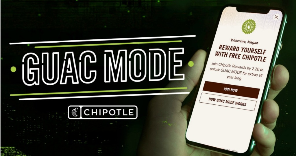 Chipotle Guac Mode on iphone