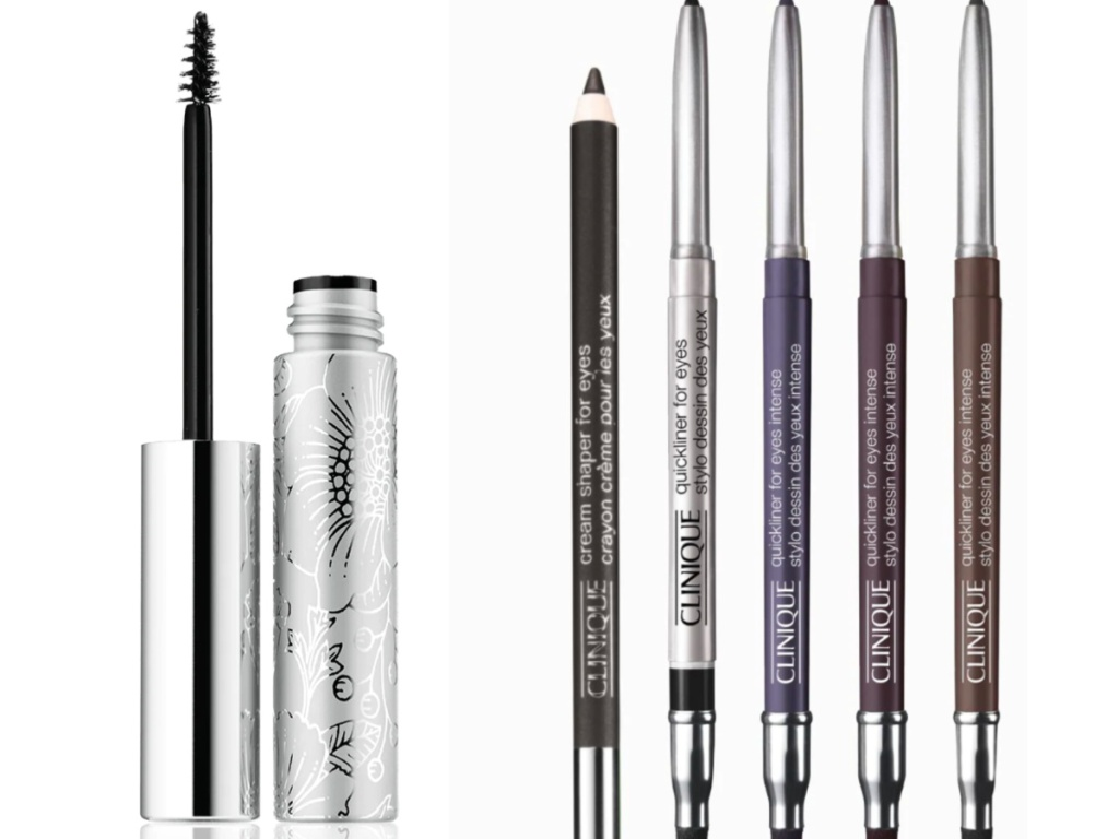 clinique bottom lash mascara and 5 eye liners