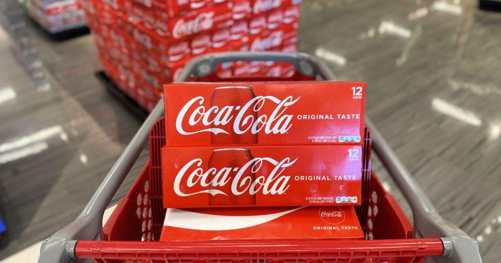 Coca-Cola 12-Packs in cart at Target