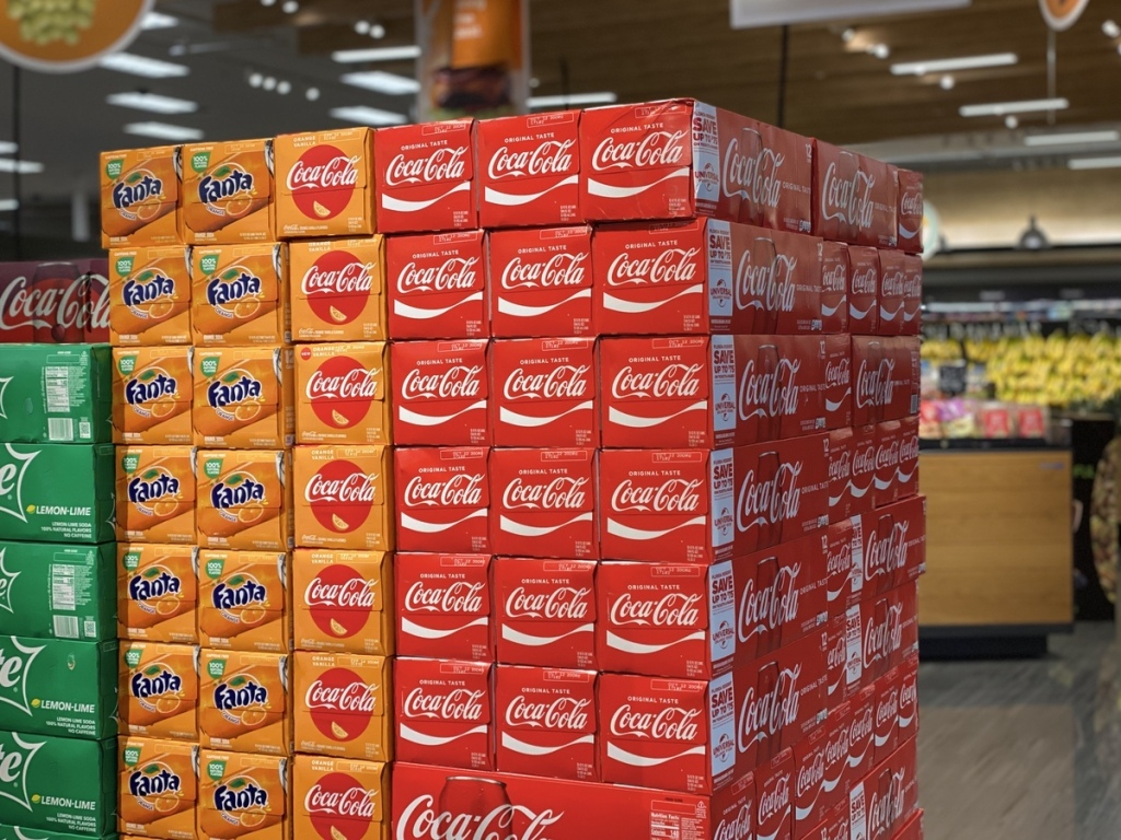 pallet of Coca-Cola at Target