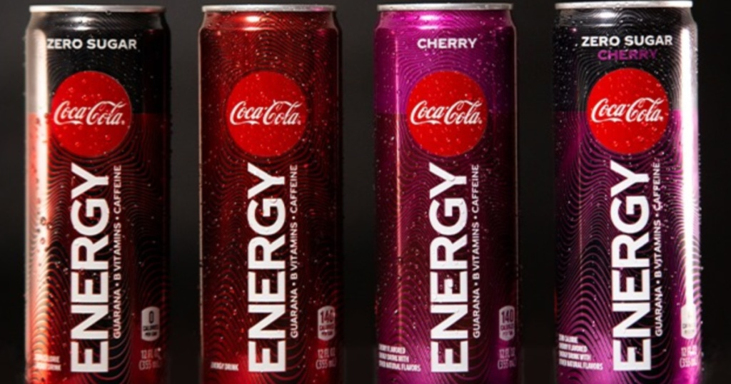 Coke Energy Drinks Cans