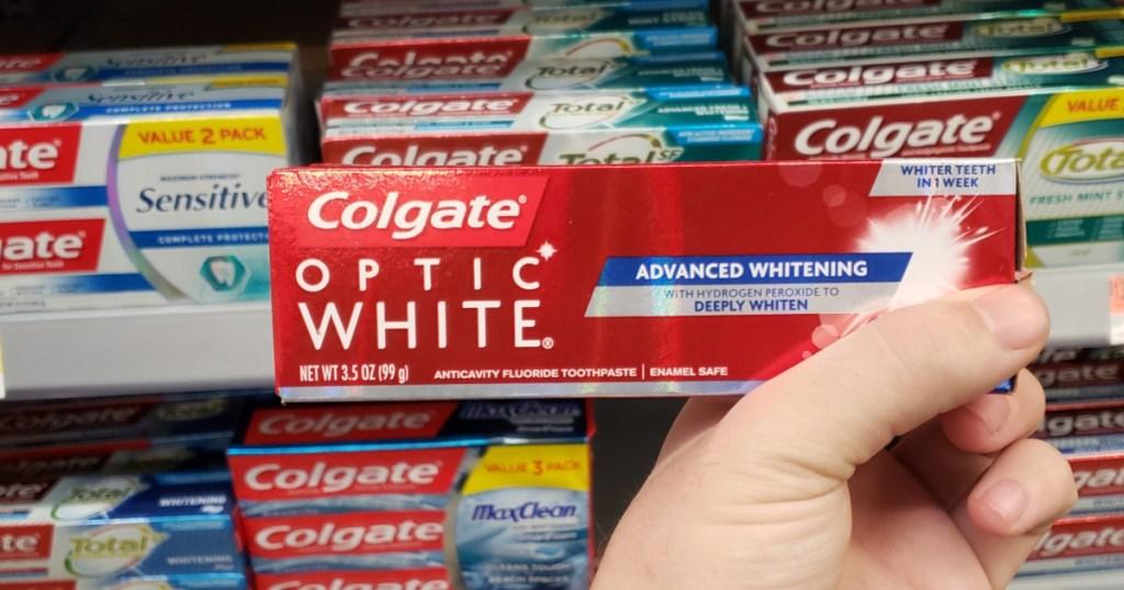 Colgate Optic White Advanced Whitening Toothpaste