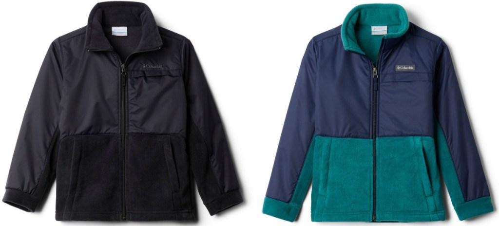Boys fleece jackets in two colors