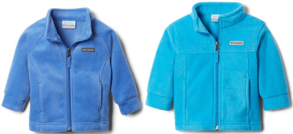 Two colors of fleece jackets for babies