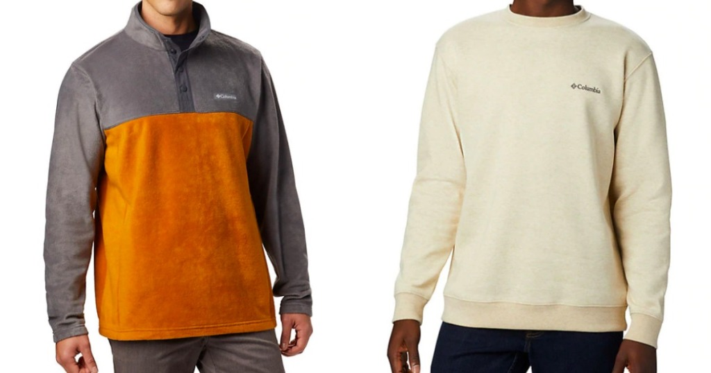 two men wearing sweatshirts