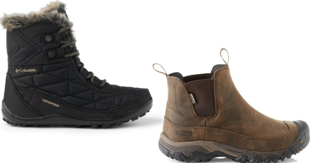 single Columbia and Keen boot