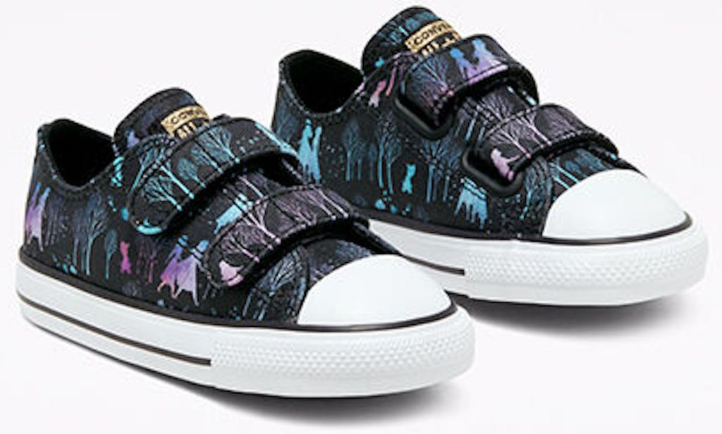 Converse x Frozen 2 Chuck Taylor All Star Black, Blue, and Purple Elsa and Anna