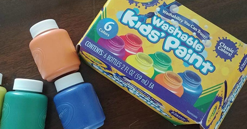 Crayola Kids Paint box with paints next to it