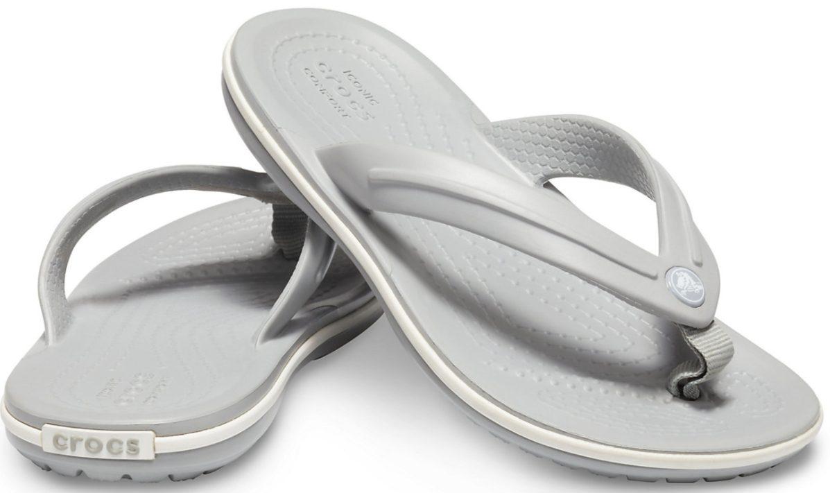 Gray kids flip flops