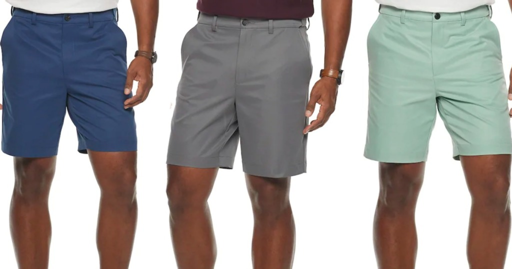 three models wearing shorts