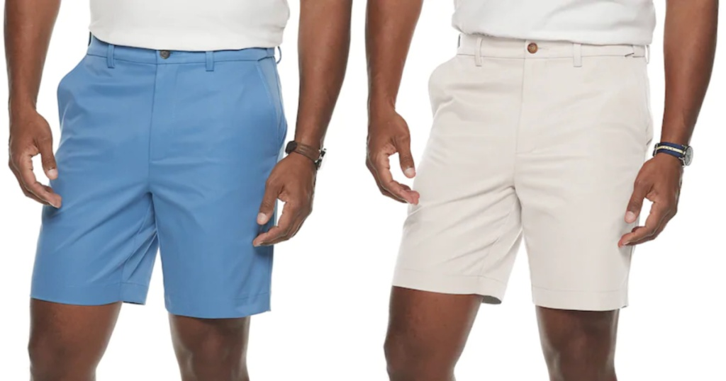 blue and white croft and barrow shorts