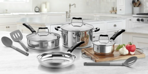 Cuisinart 10-Piece Stainless Steel Cookware Set Only $49.99 Shipped on Walmart (Regularly $179)