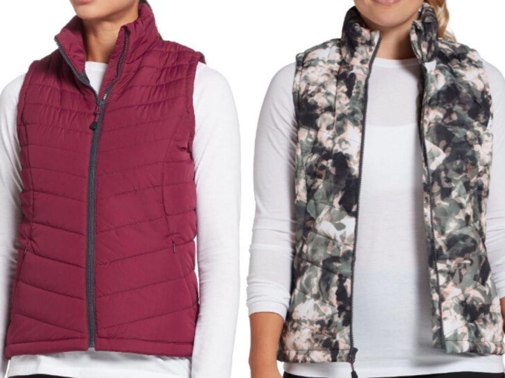 womens torsos wearing quilted vests
