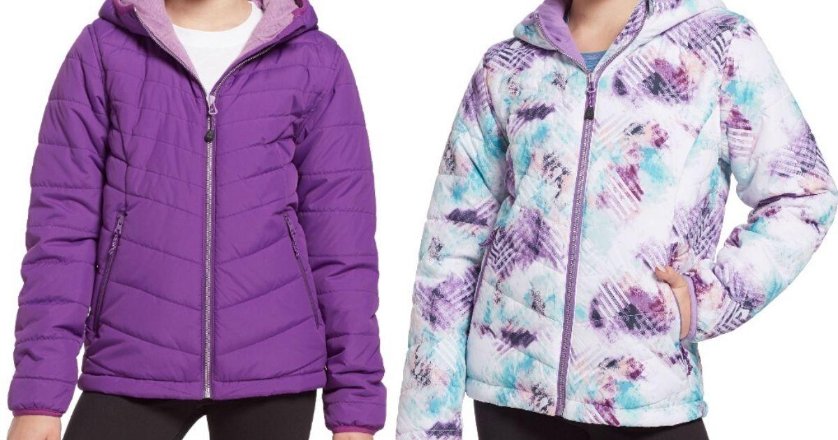 girls torsos wearing puffy winter coats