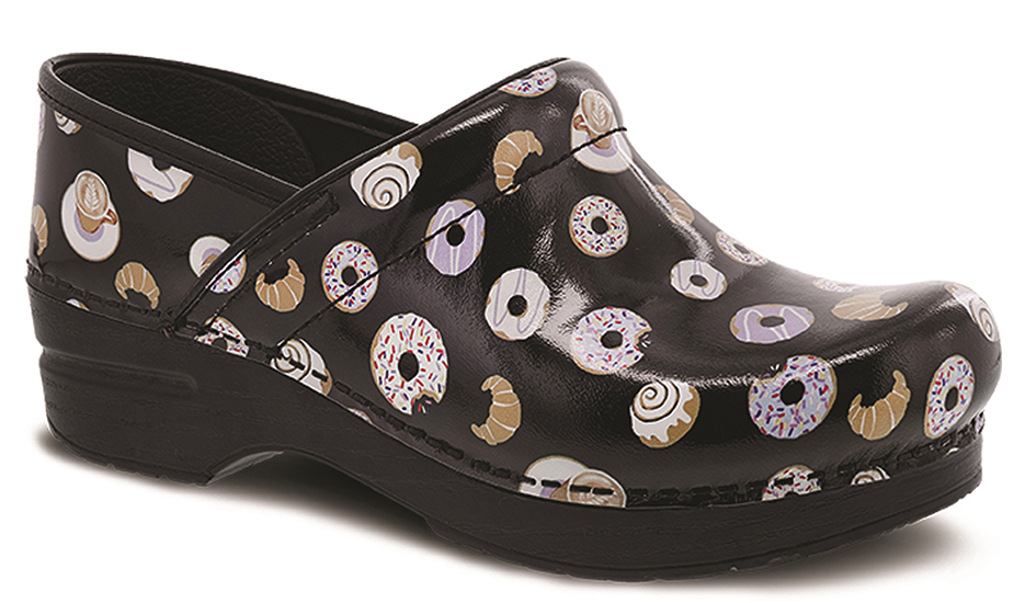 women's clogs that have donuts on them