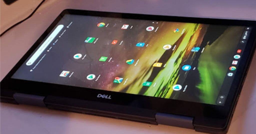 "Dell Inspiron 2-in-1 14"" Touchscreen Chromebook flipped open"