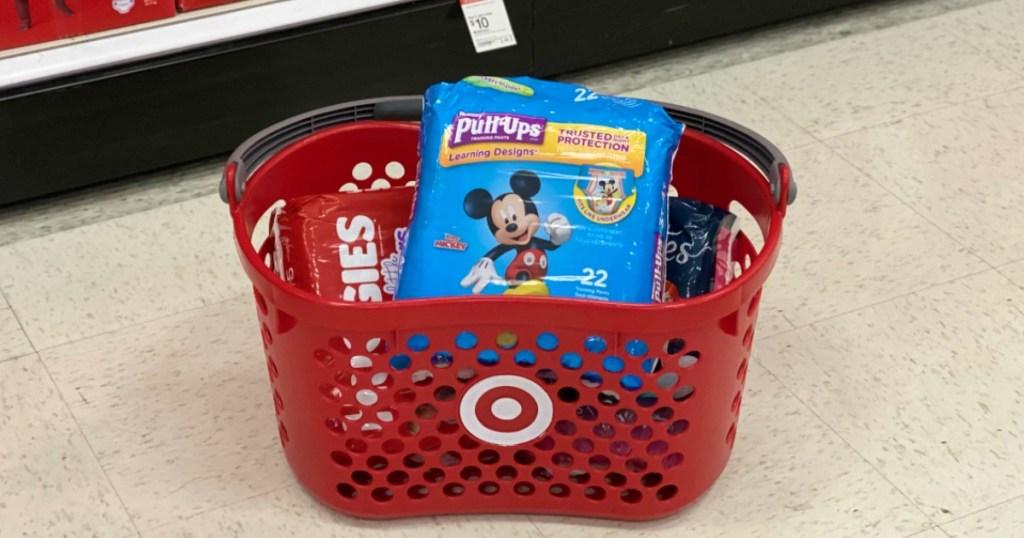 Diapers in Target Basket