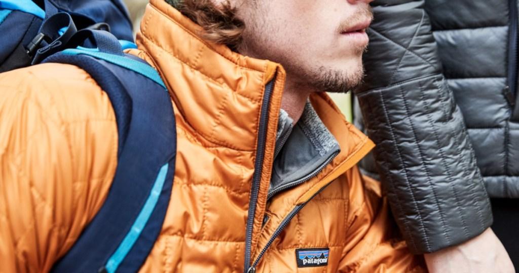 Man wearing Patagonia Men's Nano Puff Jacket