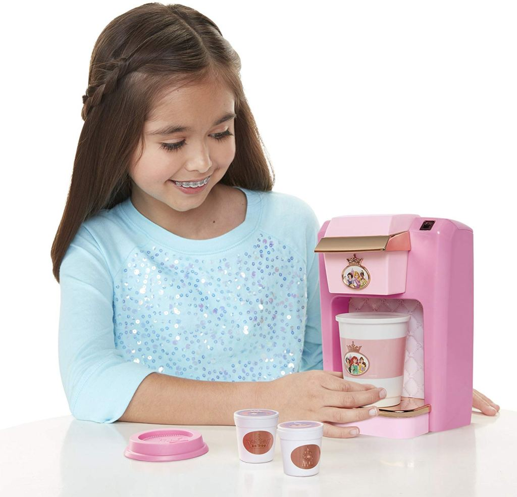 Girl with Disney Coffee Play Set