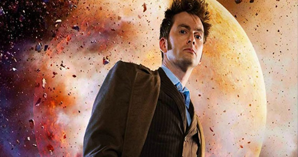 David Tennant on the Doctor Who movie cover
