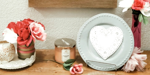 This Dollar Tree Valentine's Day Home Décor Idea is Simple & Frugal