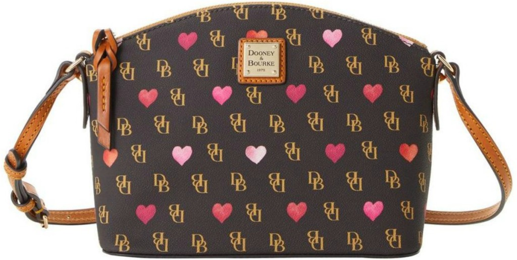 Dooney & Bourke brand bag with heart print