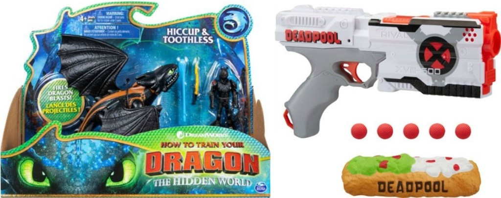 Dragons Toy and NERF Deadpool Blaster