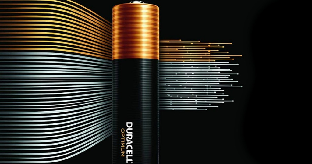 Duracell Battery with lines behind it