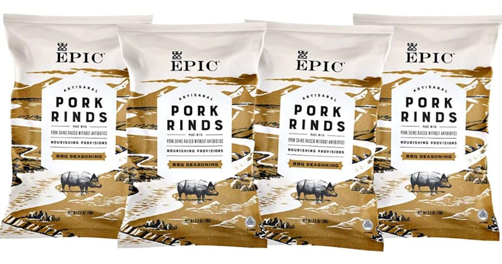 EPIC Texas BBQ Pork rinds 4-bags