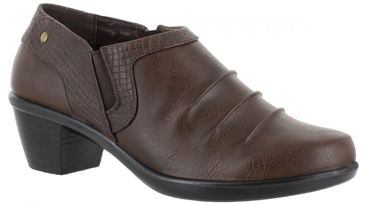 brown short boot