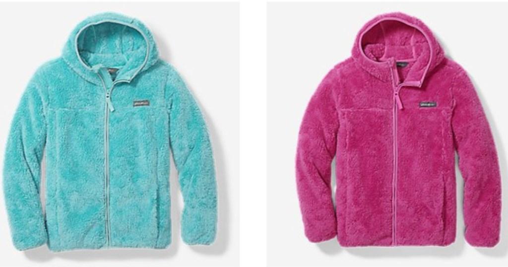 blue and pink Eddie Bauer Kids Jacket