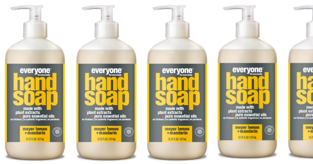 Bottles of Everyone Hand Soap, Meyer Lemon and Mandarin