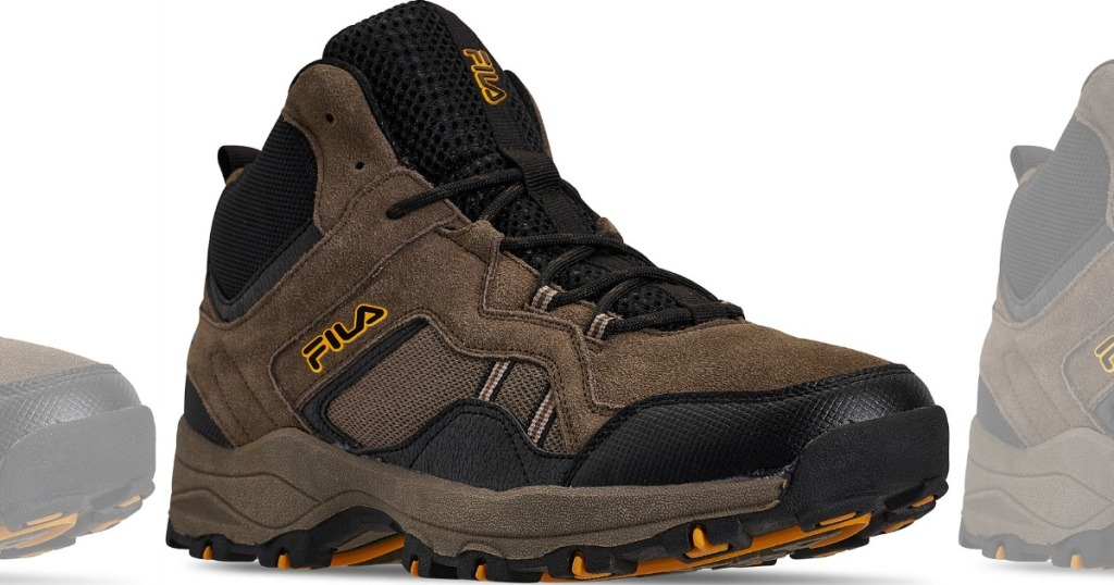 brown men's biking shoes