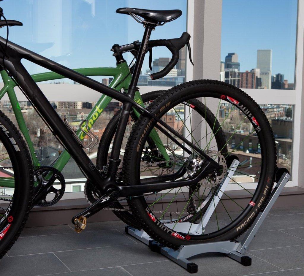 bikes in a bike stand