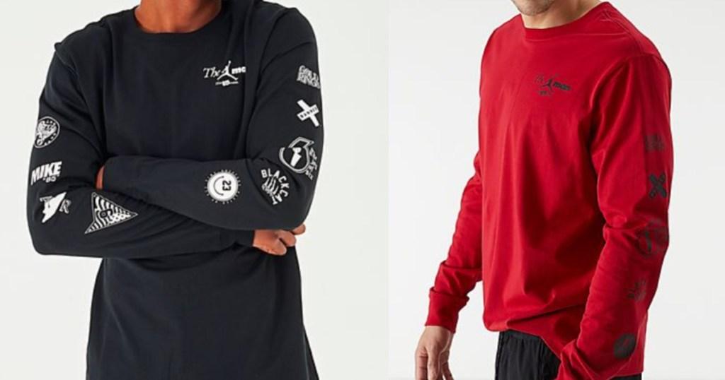 Men wearing Jordan Long sleeve top