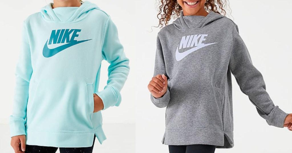 Girls Wearing Nike Tunic Hoodies