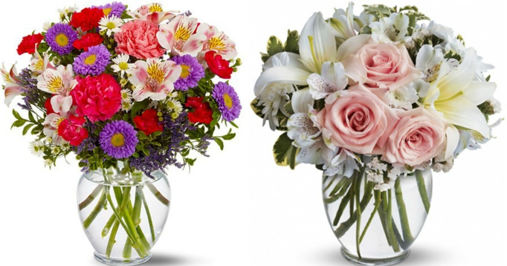 two Flower Arrangements with Vase