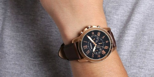 Fossil Men's Chronograph Leather Watch Only $39.99 on Woot!