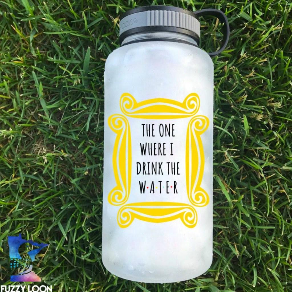 Friends Themed water tracker bottle