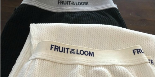 Fruit of the Loom Men's Thermal Bottoms Only $3 on Amazon (Regularly $11)