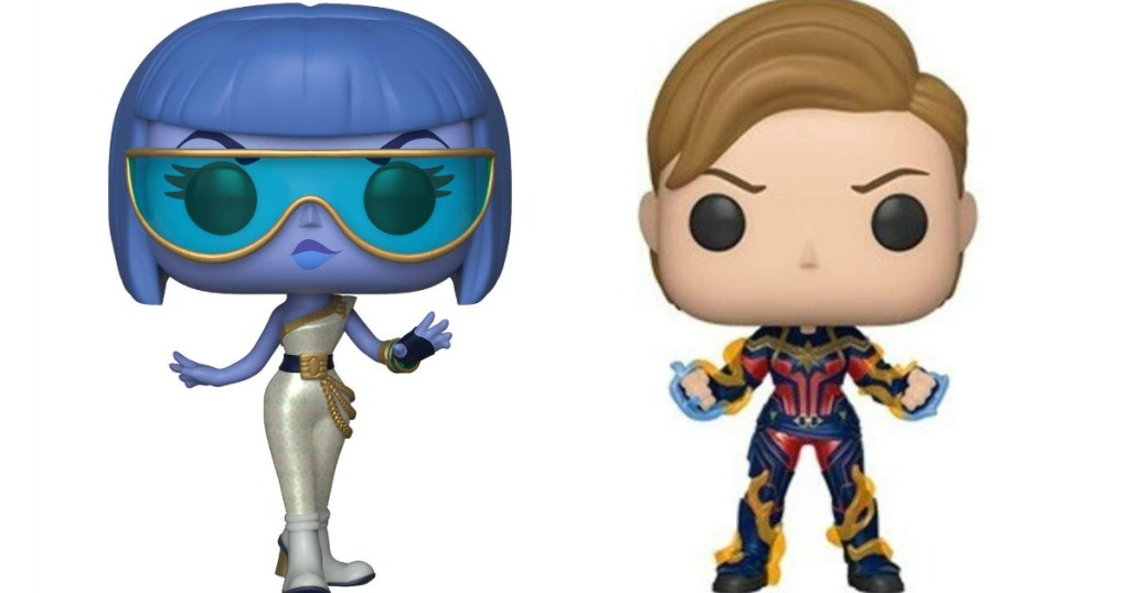 Funko Yesss and Captain Marvel figures