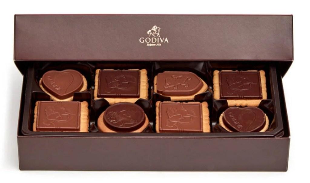 GODIVA chocolate biscuits gift box