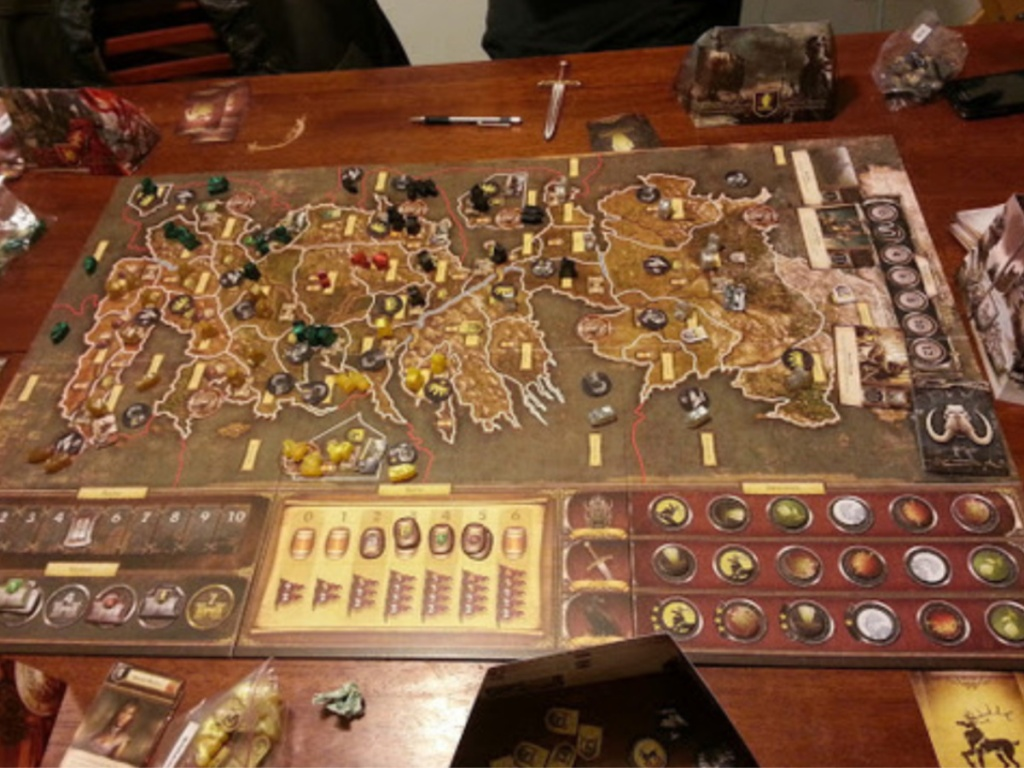 Game of Thrones Board Game set up on kitchen table