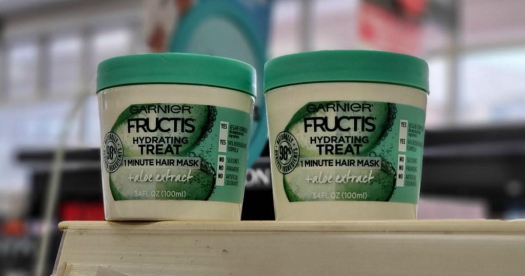 Garnier Fructis Hair Mask on the shelf at CVS