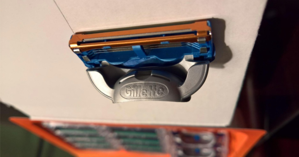 one Gillette Fusion Manual Men's Razor Blade Refill on counter